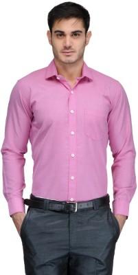 Harvest Men's Striped Formal Pink Shirt