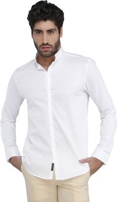 Karsci Men's Solid Casual White Shirt