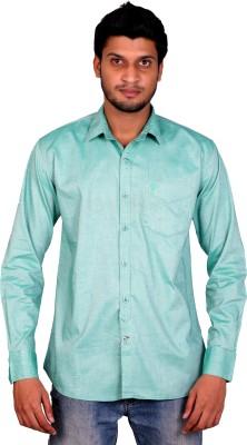 Brain Bug Men's Solid Casual Green Shirt