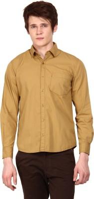 I-Voc Men,s Solid Casual Brown Shirt