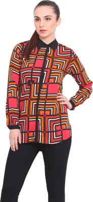 La Stella Women's Printed Casual Multicolor Shirt