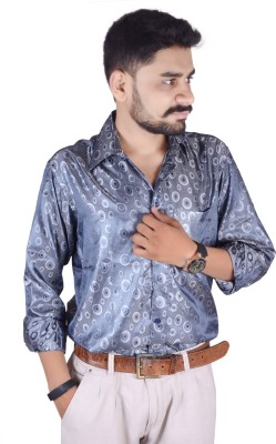 Try Me Men's Solid Formal Blue Shirt