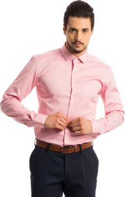Specimen Men,s Solid Formal Pink Shirt