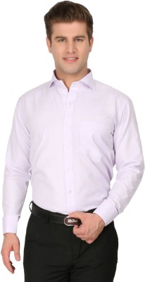 Jermyn Crest Men's Solid Formal White Shirt