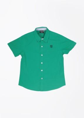 Cherokee Kids Boy's Solid Casual Green Shirt