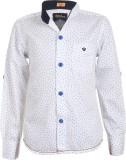 Einstein Boys Printed Casual White Shirt