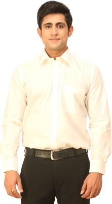 Seven Days Men's Solid Formal White Shirt