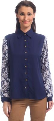 Uptownie Lite Women's Printed Casual Blue Shirt