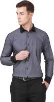 Cavana Formal Shirts (Men's) - CAVANA Men's Self Design Formal Grey Shirt