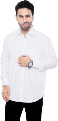 VinaraTrends Mens Solid Formal White Shirt
