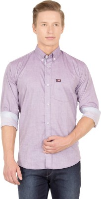 Union Street Men's Solid Casual Purple Shirt