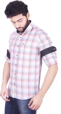 Mercury Men's Checkered Casual White Shirt