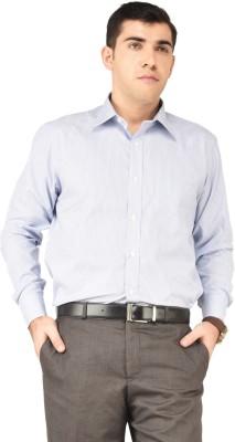 Hyphen Men's Striped Formal Grey Shirt