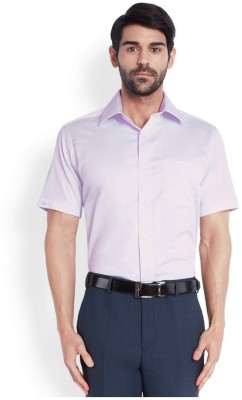 Park Avenue Men,s Solid Casual Purple Shirt