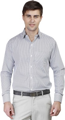 Alive Sport Men's Checkered Formal Black Shirt