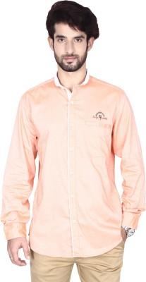 Brecken Paul Men's Solid Casual Orange Shirt