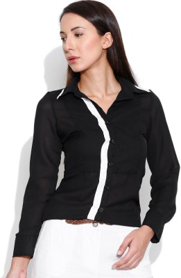 Oshea Women's Solid Casual Black Shirt
