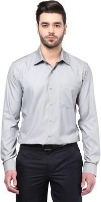 Cairon Men's Solid Formal Grey Shirt