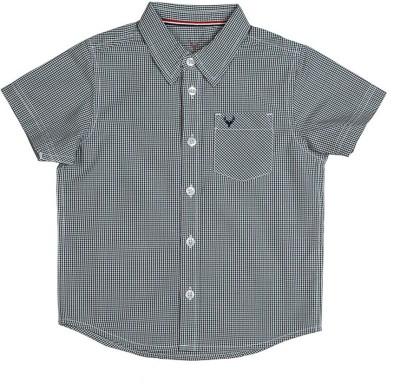 Allen Solly Boy's Checkered Casual Black Shirt