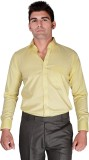 BlackLilly Men's Solid Casual Yellow Shi...
