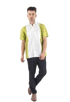 Scot Wilson Men's Solid Casual Multicolor Shirt