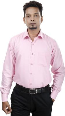 Bellavita Men,s Solid Formal Pink Shirt