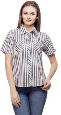 Redesign Women's Striped Casual Multicolor Shirt