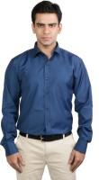 Basil Formal Shirts (Men's) - Basil Men's Solid Formal Dark Blue Shirt