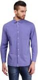 Seaboard Men's Solid Casual Purple Shirt