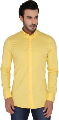 Mode De Base Italie Men's Solid Casual Yellow Shirt
