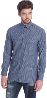 Jack & Jones Men's Polka Print Casual Light Blue Shirt