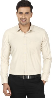 Edinwolf Men's Solid Formal White Shirt