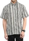 Vivid India Men's Striped Casual Multico...
