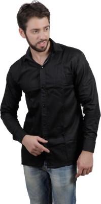 FDS Men's Solid Formal Black Shirt
