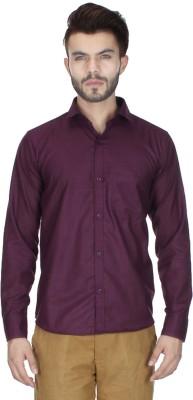 RVC FASHION Men's Solid Casual Maroon Shirt