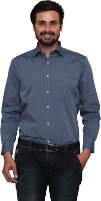Lee Marc Men's Solid Formal Denim Grey Shirt