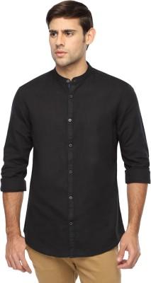 Marc N, Park Men's Solid Casual Black Shirt