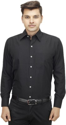 Try Me Men's Solid Formal Black Shirt