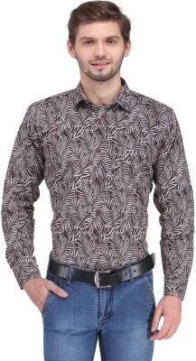 Ausy Men's Printed Casual Purple Shirt
