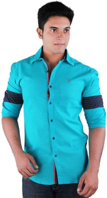 Relish Men's Solid Casual Green Shirt