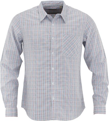 Aady Jones Men,s Checkered Formal White Shirt
