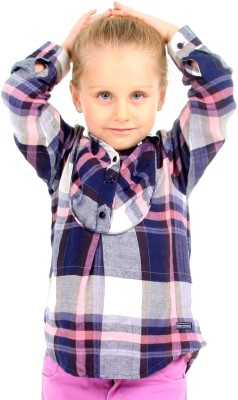Cherry Crumble California Girl's Checkered Casual Pink Shirt