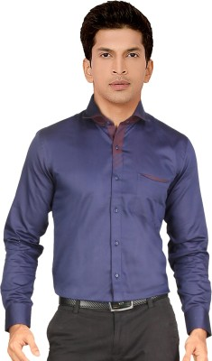 Red Country Men's Solid Casual Dark Blue Shirt