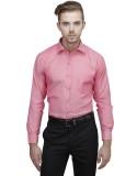 Unixx Men's Solid Formal Pink Shirt