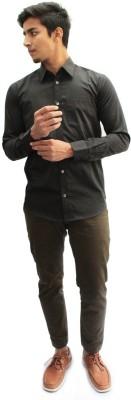 Privee Paris Men,s Solid Casual, Party, Formal, Lounge Wear Black Shirt
