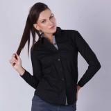 Colormode Women's Solid Party Black Shir...