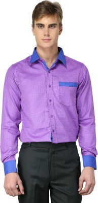 MNW Men's Solid Casual Purple Shirt