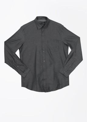 Arrow Newyork Men's Solid Formal Grey Shirt