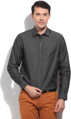 Arrow Newyork Men's Solid Casual Grey Shirt