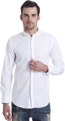 Jack & Jones Men's Solid Casual White Shirt